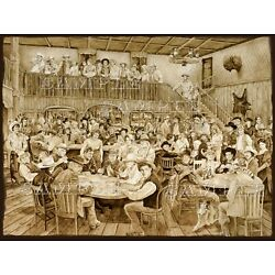 Kyпить Western Saloon by Tim Joyner 18x24 Litho Print signed by the artist на еВаy.соm