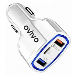 OVIVO USB C Car Charger with Dual USB Ports Quick Charge 3.0 for iPhone Xs/Max/X