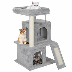 Cat Tree Tower 34'' STURDY Activity Center Large Playing House Condo For Rest & S