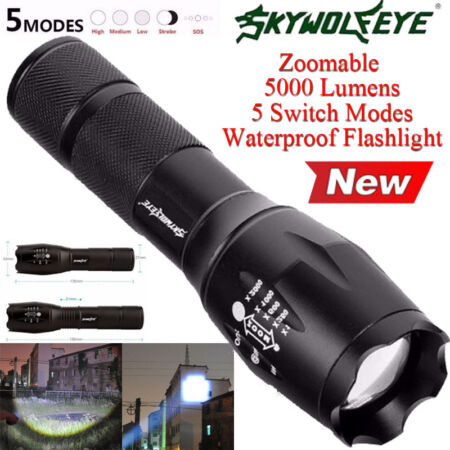 img-G700 X800 5000LM LED Tactical Flashlight Zoom Super Bright Military Torch Light