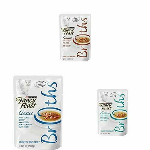 Purina Fancy Feast Broths Adult Wet Cat Food Complement Free Shipping