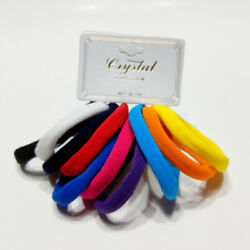 Hair Ties Elastic Seamless Band Ponytailers Multicolor Bright Ponytail tie 10Pcs