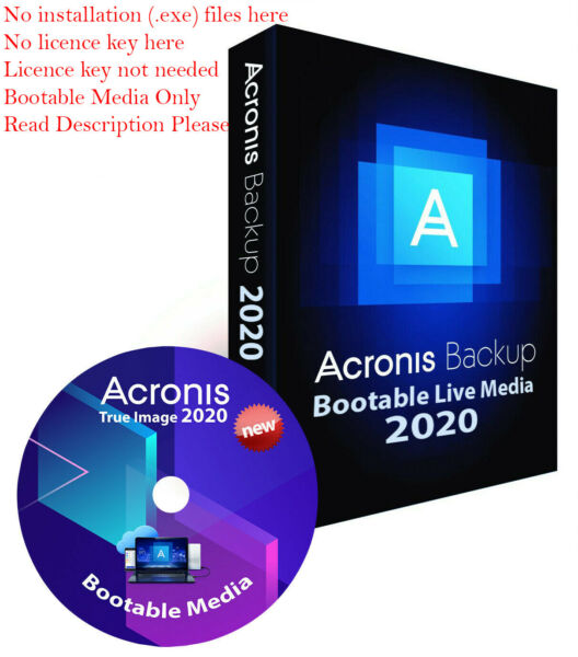 Digital Delivery Acronis True Image 2020 Bootable ISO Backup Restore Migrate SDD