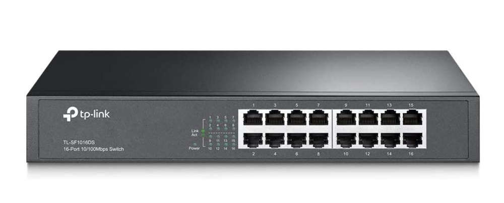 Tp-Link TL-SF1016DS 16-Port 10/100Mbps Switch 3.2Gbps Capacity