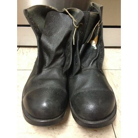 img-Boots DMS Ankle British Army Leather Soled Officers Parade Guards SIZE 13S 1970s