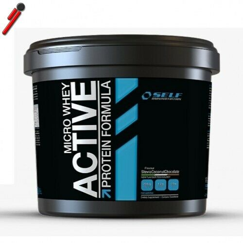 Self, Micro Whey Active Stevia, 1000 g (1 kg) Proteine Siero del Latte Isolate