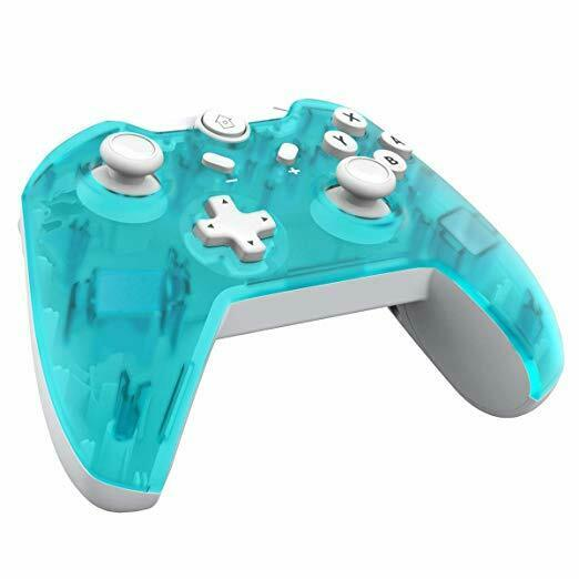 JFUNE Wireless Pro Controller Nintendo Switch Interruttore Giroscopio (verde)