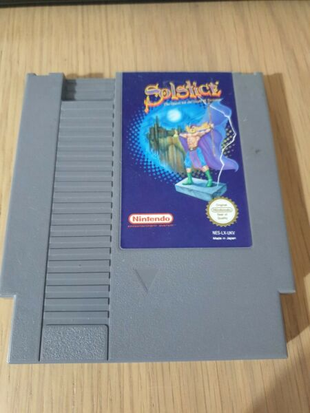 SOLSTICE THE QUEST FOR THE STAFF OF DEMONS NES GAME. UNBOXED, NO MANUAL. PAL UKV
