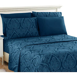 Kyпить Deep Pocket 6 Piece Bed Sheet Set 1800 Count Egyptian Comfort Paisley Sheet Set на еВаy.соm