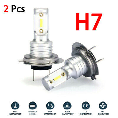 H7 LED Headlight Bulb Conversion Kit Hi/Lo Beam 55W 8000LM 6000K Super Bright US