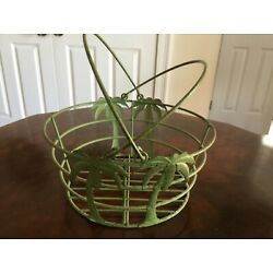 Wire Palm Basket with Swing Handles