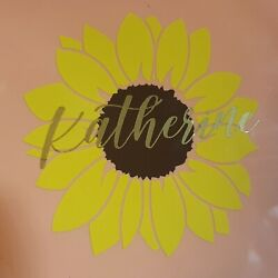 Personalized Decal Sunflower Many Colors Name