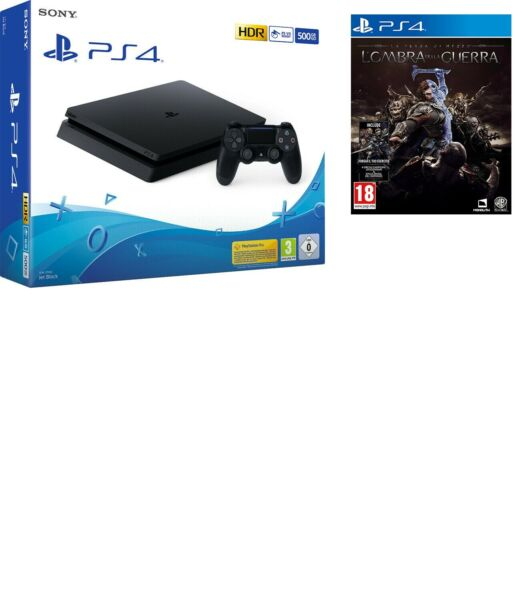 SONY PLAYSTATION 4 PS4 CONSOLE 500GB CHASSIS F SLIM HDR NUOVO NERO + L'OMBRA
