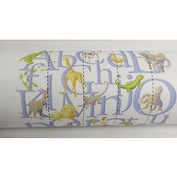 Pottery Barn Kids ABC Wall Mural Decor Animals Pre-Pasted 7.5' x 7.5' Nursery