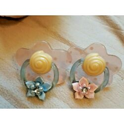 2  REPLACEMENT PACIFIER FOR ZAPF BABY ANNABELL DOLL MAKES DOLL ACTIVATE