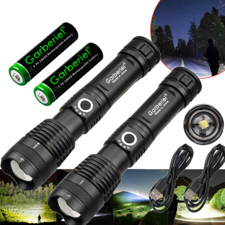 img-Tactical Torch Ultra Bright Powerful 900000LM Lamp xhp50 LED Camping Flashlight