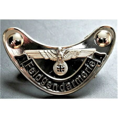 img-WW2 GERMAN MILITARY BADGE EAGLE AND IRON CROSS F/GENDARMERIE REPRO NICE