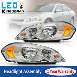 Kyпить For 2009 Chevy Impala 06 07 Monte Carlo Chrome Housing Headlights Assembly Pair на еВаy.соm