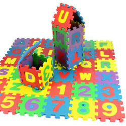 Kyпить 36Pcs Child Baby Number Alphabet Puzzle Foam Maths Educational Toy Gift New USA  на еВаy.соm