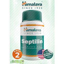 OFFICIALLY SEPTILIN HIMALAYA 2 BOX 120 TABLETS  IMMUNITY BOOST ALLERGIC DISEASES