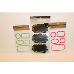 Lot of 3 Recollections Labels Chalkboard, Green, Pink / Purple