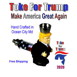 Kyпить Donald Trump 2020 Metal Tobacco Smoking Pipe Brass Bowl Glass Herb на еВаy.соm