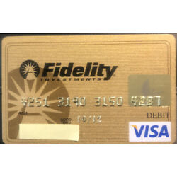 Kyпить Gold Fidelity Investments VISA credit card - expired 2012 на еВаy.соm