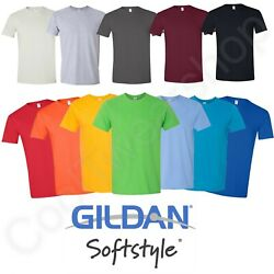 Kyпить NEW Gildan Men's Softystyle Ringspun Cotton Short Sleeves Plain T-shirt 64000 на еВаy.соm