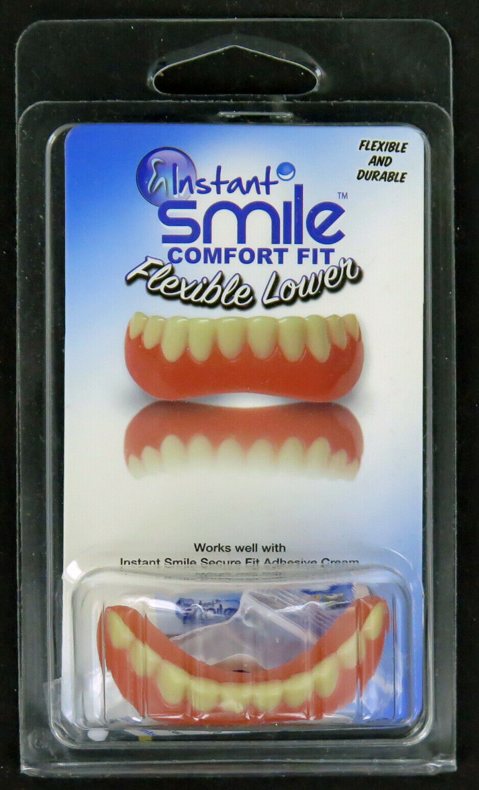 Instant Smile Billy Bob Bottom Fake Teeth with Fixative Adult