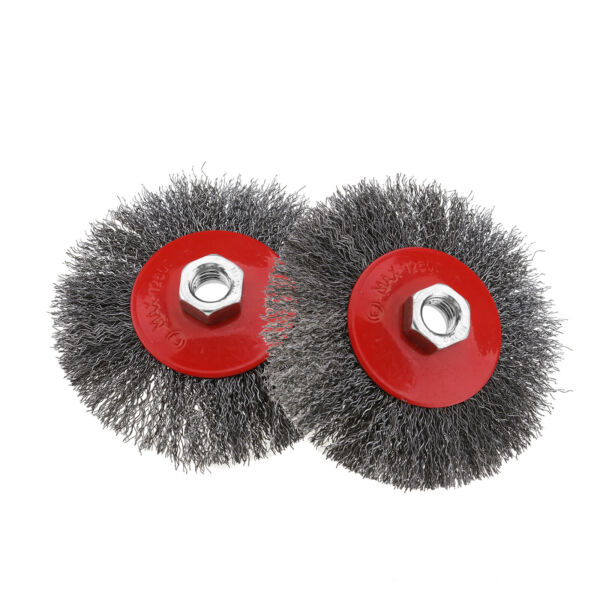Irlande (Eire)2x 4.5 Inch M14 Thread Twist Knot Wheel Brush Cup for Angle Grinder Power Tools