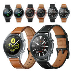 For Samsung Galaxy Watch 3 45mm 41mm Band Classic Leather Wristwatch Strap