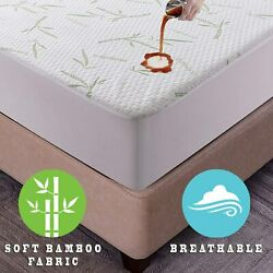 Kyпить Bamboo Mattress Protector Hypoallergenic & Breathable Waterproof Mattress Cover на еВаy.соm