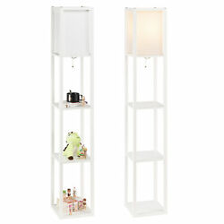 Kyпить Modern Accent Light Wooden Floor Lamp with Storage Shelves for Living Room New на еВаy.соm