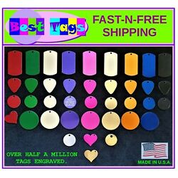 Pet Tags Dog Cat ID tag Engraved USA Seller>BEST PRICE>TAGS FROM $2.86 Shipped!