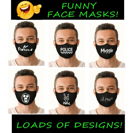img-FUNNY face masks mask covering novelty logos Police metal a team etc