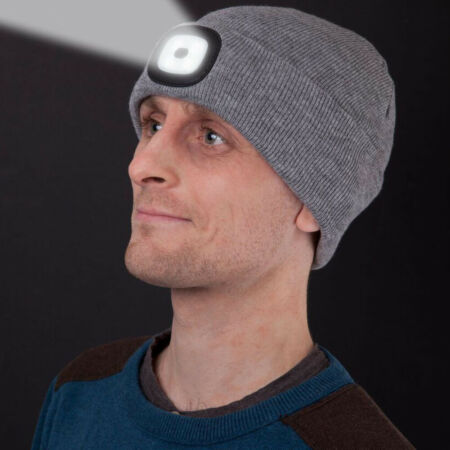 img-Built-In Flashlight Hat Knitted Beanie LED Work Light With Beanie Warm Hat NEW