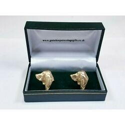 Gamekeepers Cottage Gifts Gold Tone Dog Cufflinks