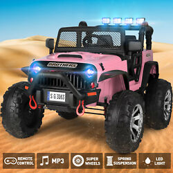 Kyпить Pink Electric 12V Battery Kids Ride on Truck Car Jeep Toys MP3 LED w/Remote Girl на еВаy.соm