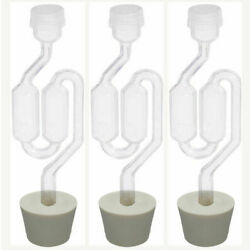 Kyпить 3ct. - S-Shape Airlock with #7 Stopper - Set of 3 (Bubble Airlock) на еВаy.соm
