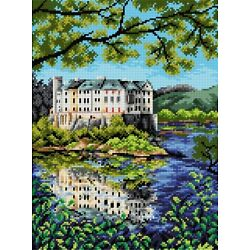 ''Castle Orlik'' Printed Canvas for Cross Stitch Tapestry Gobelin Embroidery 2383