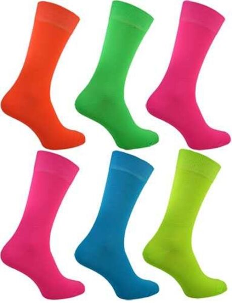 Royaume-UniFemmes Fluo Chaussettes Super Rock And Roll Néon Fluorescent Chaussettes Mode