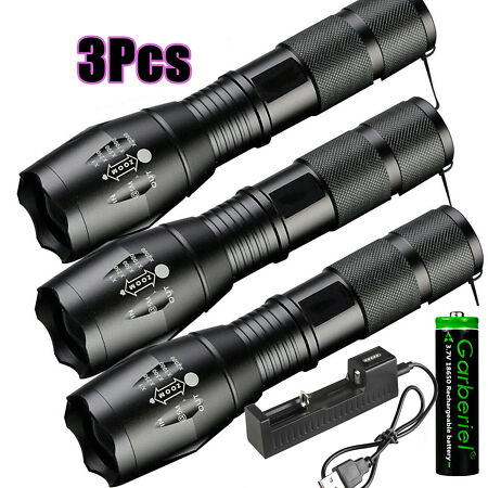 img-90000LM T6 LED Super Bright Zoomable Mini Flashlight Powerful Camping Lamp Torch