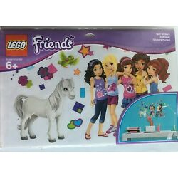 Lego Friends New Girls Wall Decals Peel & Stick ~ 4 Sheets ~Authentic Lego Store
