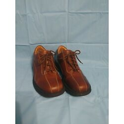 ALDO MEN'S BROWN LEATHER ATHLETIC LACE-UP OXFORDS US 10 EUR 43 USED