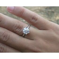 Kyпить $8,850 14K White Gold 1.1 Carat SI Diamond Solitaire Ring, Color I-J, Size 6 на еВаy.соm