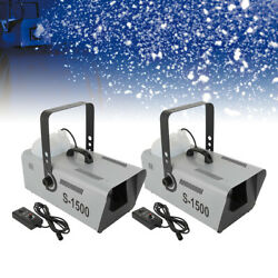 Kyпить 2Pcs 1500W Snow Maker Snowflake Machine Stage 5L Fluid Capacity Show w/Remote на еВаy.соm