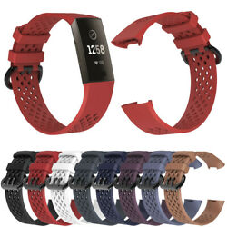 For Fitbit Charge 3/4 Replacement Silicone Bracelet Wrist Watch Band Strap di