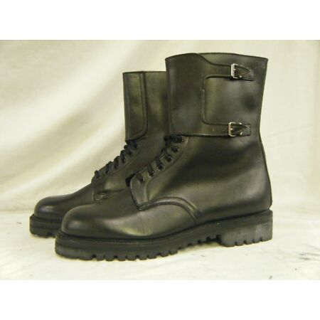 img-Genuine French Army Issue Combat Marbot Rangers Leather Hiking Boots Size 13 48
