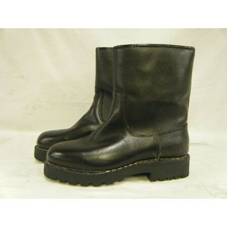 img-Genuine German Army Navy Issue Combat Fur Lined Leather Winter Boots Size 6.5 40