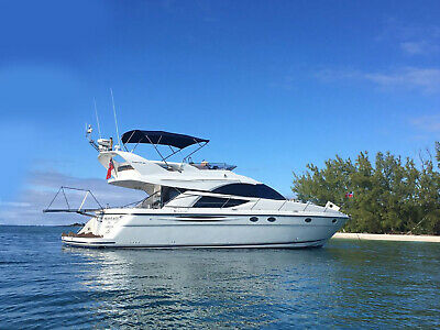 50' Fairline Phantom FLY W/ seakeeper 5 Stabilizer - 2 X VOLVO D12 WITH 370 HRS